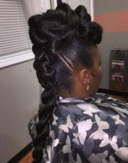 Updo on natural hair