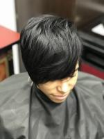 This hairlove's session included a customized haircut.Overdirected bangs to keep the length,paired with layers in the crown area for volume