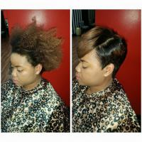 Short cut & style on natural hair