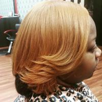 Radiant color,cut & style on natural hair