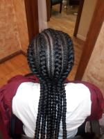 Stylish cornrows