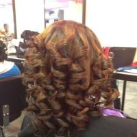 Curls galore for black hair at Flow Salon in Landover, MD.