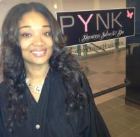 After picture extensions for black hair at Pynk Butterfly Hair & Nail Salon in Columbia, SC.