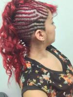 Braided fohawk for black hair at Something Special Styling Salon in Irving, TX.
