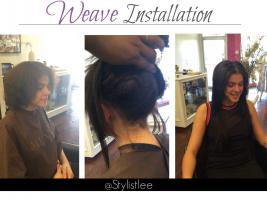 Mixed chick weave install - by Stylist Lee Hair Studio  Los Angeles