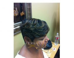 Short hair cut for women and highlights - by Stylist Lee Hair Studio  Los Angeles