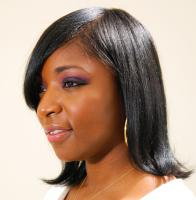 Medium Length style for black hair at Flow in Landover, MD.