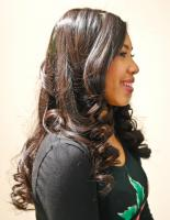 Long hair with little curls for black hair at Flow in Landover, MD.