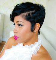 Short hair style & cut for black hair at Flow in Landover, MD.
